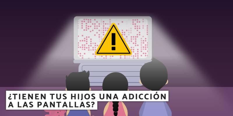 hijos tener una adicción a las pantallas