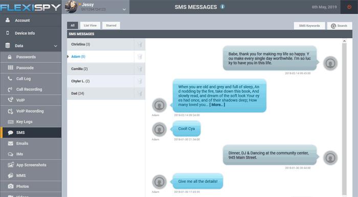flexispy espiar mensajes de texto
