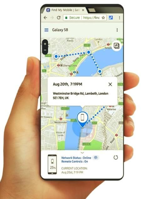 Localiza tu Samsung con Find My Mobile