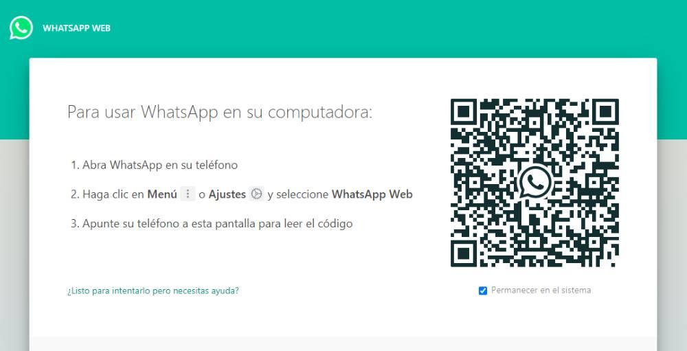 aplicación de WhatsApp Web