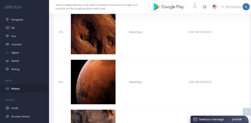 Visualización de fotos y vídeos
